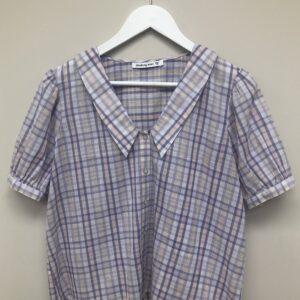 check collared short sleeve shirt